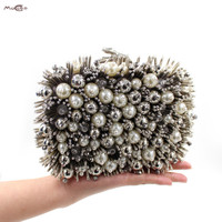 Moccen Beaded Evening Bags Day Clutches Bags Luxury Evening Handbag Wedding Party Wallet High Quality Purses And Handbags