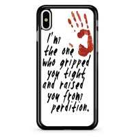 Supernatural Gripped You Tight iPhone X Case