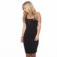 Over You Bodycon Dress In Black