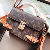 LV New fashion monogram leather shoulder bag crossbody bag handbag