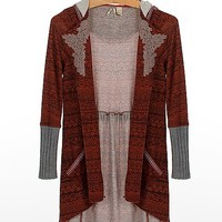 Gimmicks By BKE Southwestern Cardigan Sweater