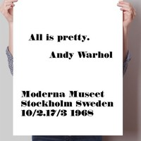 All is pretty, Andy Warhol Poster Print