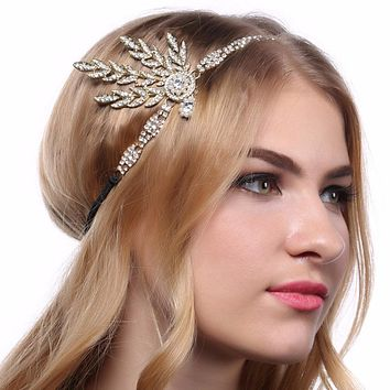 Art Deco 1920s Vintage Flapper Headpiece - In The Great Gatsby Style - Happy New Years!