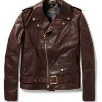 Schott Perfecto Vintage Oiled-Leather Motorcycle Jacket | MR PORTER