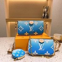 LV Louis Vuitton Multi Pochette New Three-in-One Mahjong Bag Three-piece Set