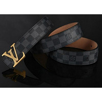 LOUIS VUITTON CLASSIC MEN&WOMEN REAL LEATHER BELTS++*