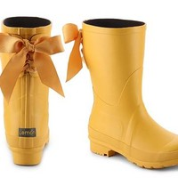 Lemon Ribbon Rain Boot
