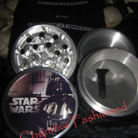 Star Wars Darth Vader 4 Piece Grinder Herb Spice Aircraft Grade Aluminum C.N.C from Cognitive Fashioned