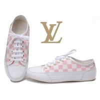 LV Women Casual Low-Top Sneakers Sport Shoes