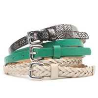With Love From CA Skinny Snake Emerald Belt Pack at PacSun.com