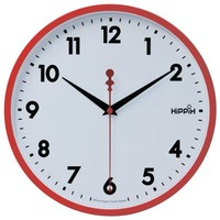 "Hippih 10"" Silent Quartz Decorative Wall Clock with Glass Cover Non-ticking Digital,2315-C"