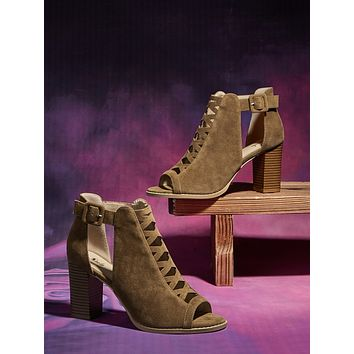 Ankle Strap Chunky Heeled Sandals Boots