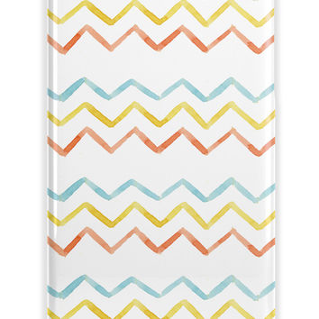 THIN WATERCOLOR CHEVRON - HAND DRAWN PRETTY MONOGRAM IPHONE CASE