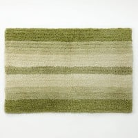 Peacock Leaves Bath Rug (Green)
