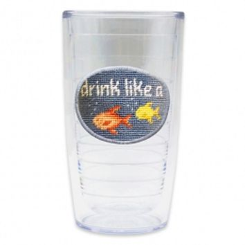 Drink Like a Fish Needlepoint Tumbler by Smathers & Branson