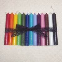 Thirteen Candles- Candle Set- Full Spectrum of Colors- For Altars, Charms and Magic Spells