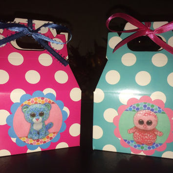 Set Of 10 Beanie Boo's Party Bags, Snacks Bags, Candy Bags,Goodie Bags