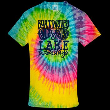 Southern Couture Tie-dye Boat Waves & Lake Days T-Shirt