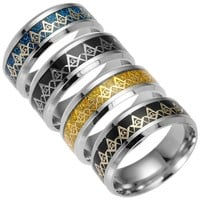 Shiny Stylish New Arrival Jewelry Gift Stainless Steel Titanium Accessory Ring [10059710979]