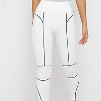 Explosive women's fashion reflective sexy skinny trousers