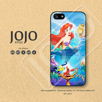 iPhone 5 Case, iPhone 5c Case, iPhone 4 Case, iPhone 5s Case, iPhone 4s Case, Disney little mermaid ariel, Phone Cases, Phone Covers - J013