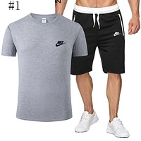 Nike explosive T-shirt comfortable and popular round neck sports trend suit