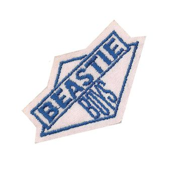 Beastie Boys Men's Logo 2 Embroidered Patch White