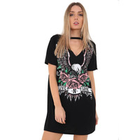 Vintage Rock Style T-Shirt Mini Casual Party Holiday TShirt summer crop tops