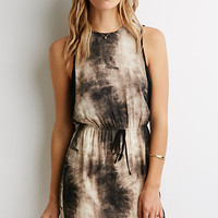 Watercolor Print Sheath Dress