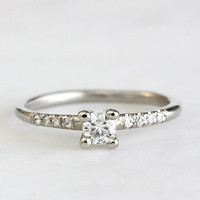 nove moissanite engagement ring