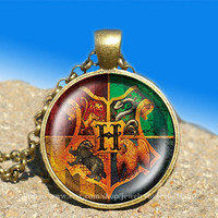 Hogwarts crest Harry Potter vintage pendant -necklace ready for gifting Buy 3 and get the 4th one free