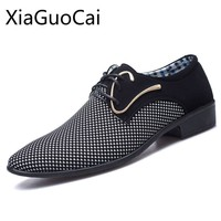 Business Cool Men Flat Dress Shoes Oxfords Spring and Autumn Formal
