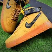 Louis Vuitton LV x Nike Air Force 1 Mid Shoes AF1 Sneaker 882096-200
