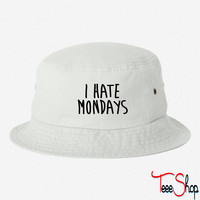 I Hate Mondays bucket hat