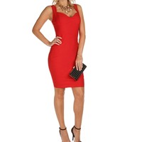 Sale-red Ultra Fitted Dress