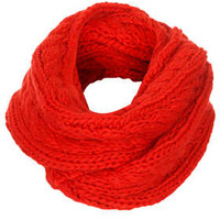 SNO CHUNKY CABLE KNIT SNOOD