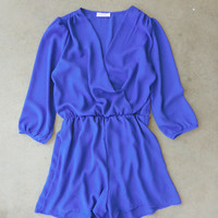 Coronado Romper in Royal Blue