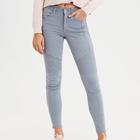 High-Waisted Jegging, Washed Blue