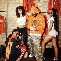 HCXX 19Sep 669 Vlone Printed logo big V Hoodie Sweater Hip Hop Loose Women Men Sweater Orange