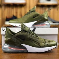 Nike Air Max 270 Olive Men Sport Running Shoes AH8050-201 - Best Online Sale