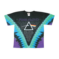 Pink Floyd Men's  Dark Side Tie Dye T-shirt Multi