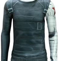 Winter Soldier Quick-dry Sports T-shirt, Breathable Long Sleeve T-shirt For Outdoor Sports.