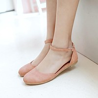 Women Flats Sandals Ankle Straps Jelly Shoes Woman 3448