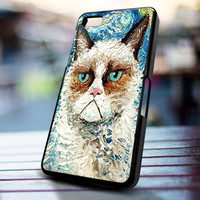 Cat meet Staryy night design for iPhone 4/4s, Iphone 5, Samsung Galaxy S3, Samsung S4, Blackberry Z10, Ipod 4 & Ipod 5 from stevaz store