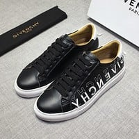 Givenchy Men's Leather Fashion Low Top Sneakers Shoes #372