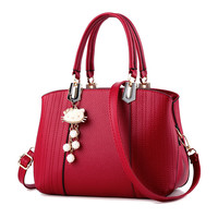 Fashion Casual Metal Pearl Hello Kitty Hang Ornaments Handbag Single Shoulder Bag Messenger Bag