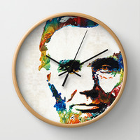 Abraham Lincoln Art - Colorful Abe - By Sharon Cummings Wall Clock by Sharon Cummings
