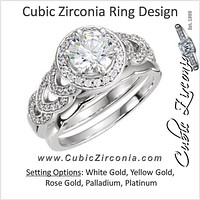 Cubic Zirconia Engagement Ring- The Katya