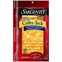 Sargento Natural Deli Style Colby-Jack Cheese Slices, 18 ct - Walmart.com