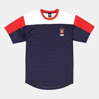Crooks And Castles Icon Football T-Shirt - Navy at Urban Industry